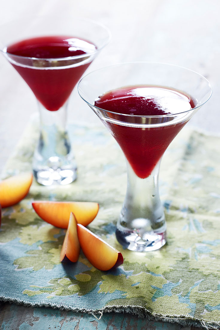 Turn your roasted sweet plums into the ultimate martini recipe for the holidays