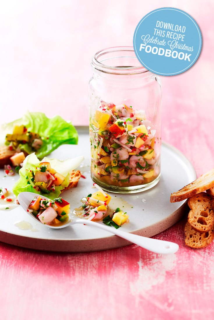 This White Fish and Nectarine Ceviche is the perfect appetiser for a hot Aussie Christmas
