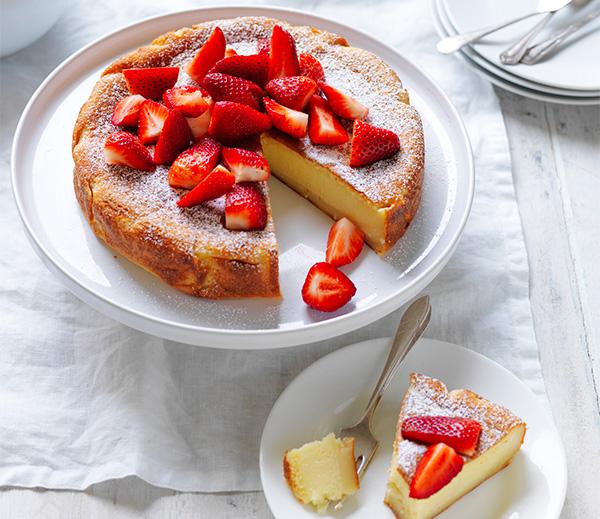Three Layer Magic Cake