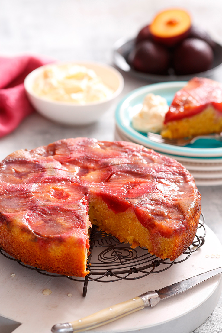 This Upside Down Stone fruit recipe is a simple summer dessert for afternoon tea
