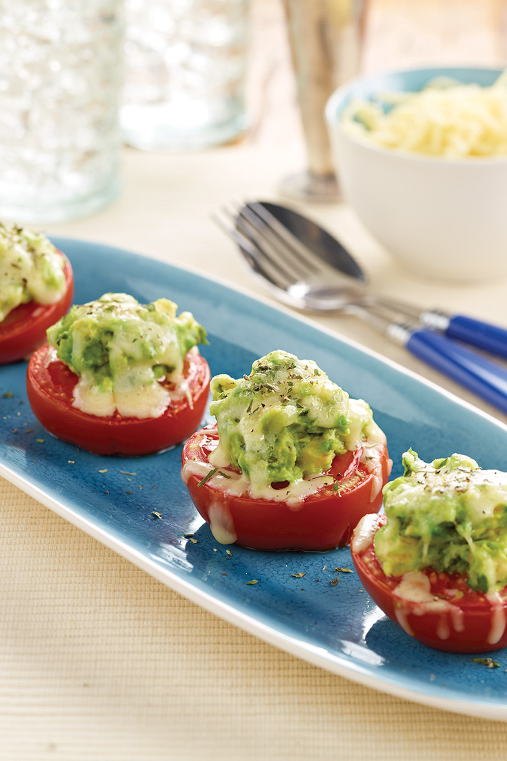 These delicious avocado filled tomatoes are a great starter or light dinner idea