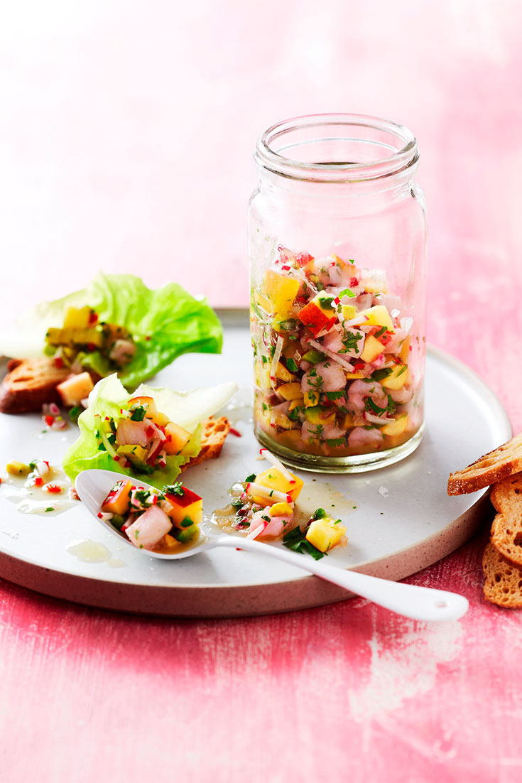 Turn simple stonefruits and white fish into this great ceviche