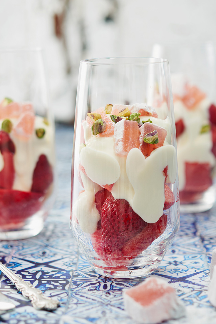 This yummy Quick PHILLY Pink and White Parfait recipe is a great Christmas dessert