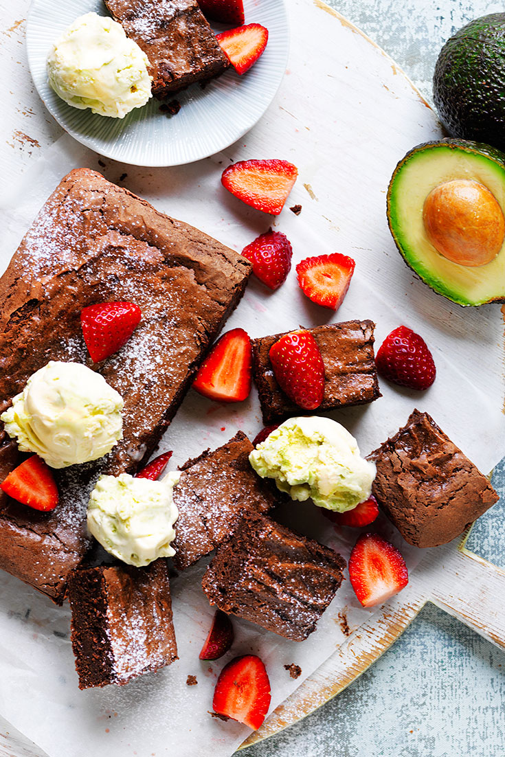 Try this twist on traditional brownies with the addition of avocado, which is another way to eat avocado in winter.