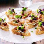 Chicken and Coriander Cream Crostini