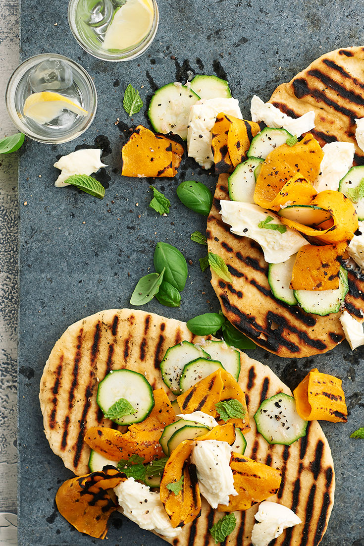 Try these Summer Barbecue Yoghurt Flatbreads next time you entertain