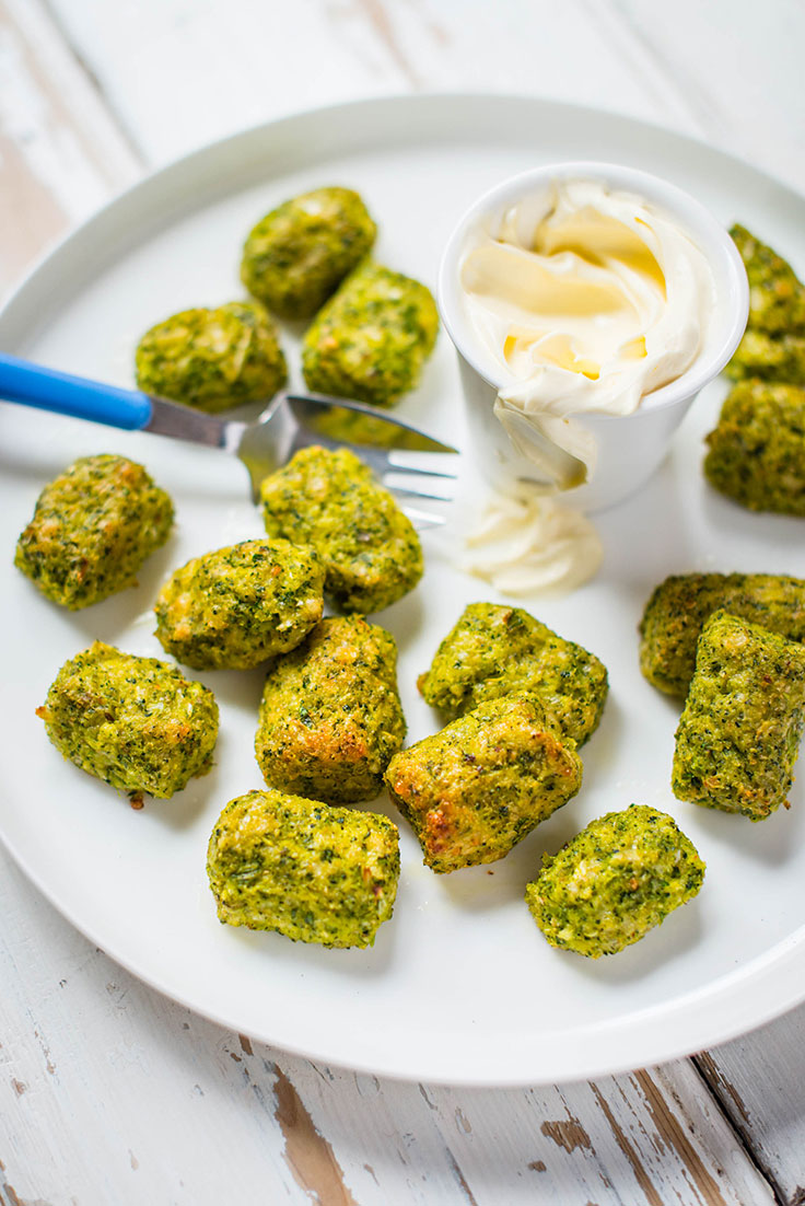 Pack a healthy school lunch box with these Cheesy Broccoli Gems