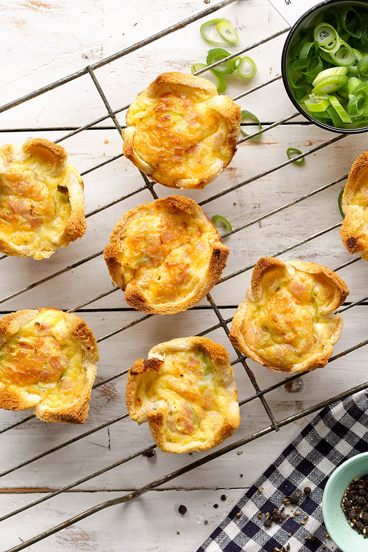 Start the school year with these great mini quiches as a lunchbox snack.