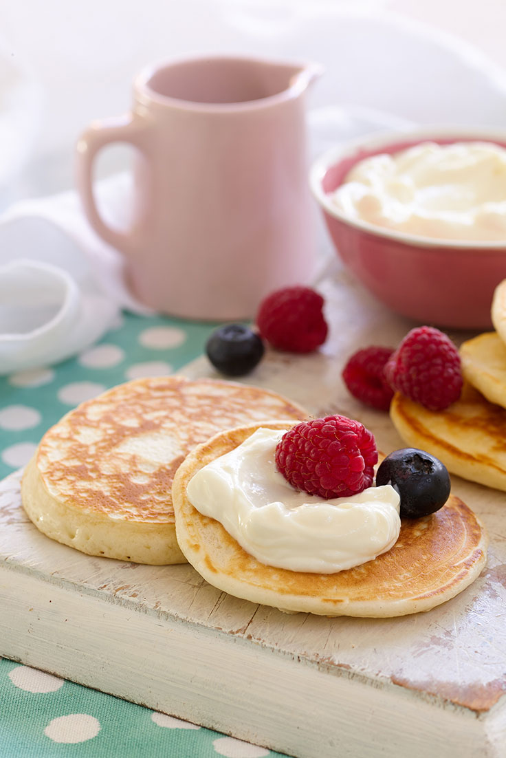 Pikelets aren't just for breakfast. You can also try them in the school lunchbox.