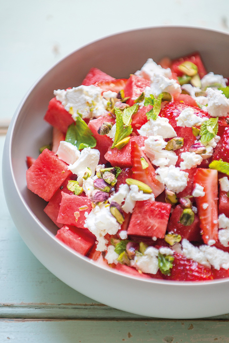Make this refreshing watermelon feta salad recipe as a summer dinner idea