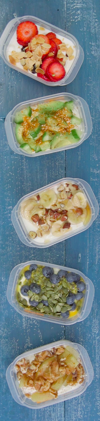 Different ways to dress up plain yoghurt