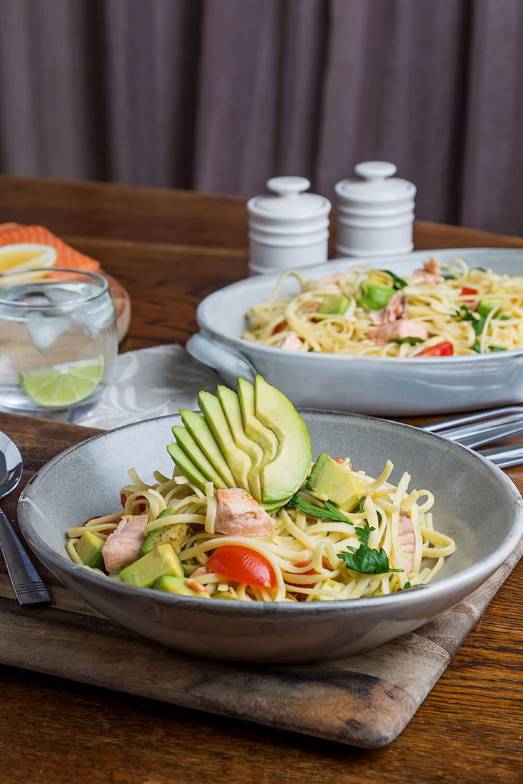 Dine your sweetheart this Valentine's Day with this delicious Trout and Avocado Pasta recipe