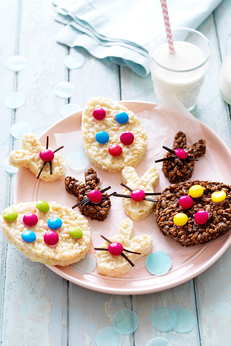 Delicious Easter treats made with Copha Chocolate Crackles