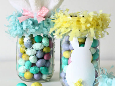Mason jar egg baskets. Idea by Nest of Posies