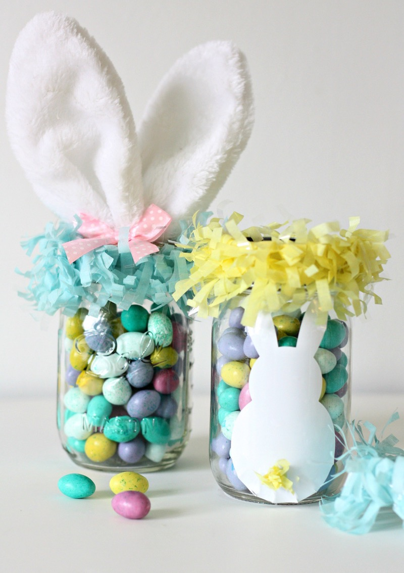 Mason jar egg baskets via Nest of Posies