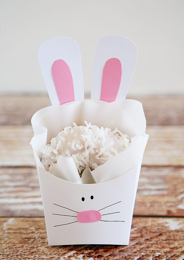 Easter Bunny Paper Baskets By Eighteen25
