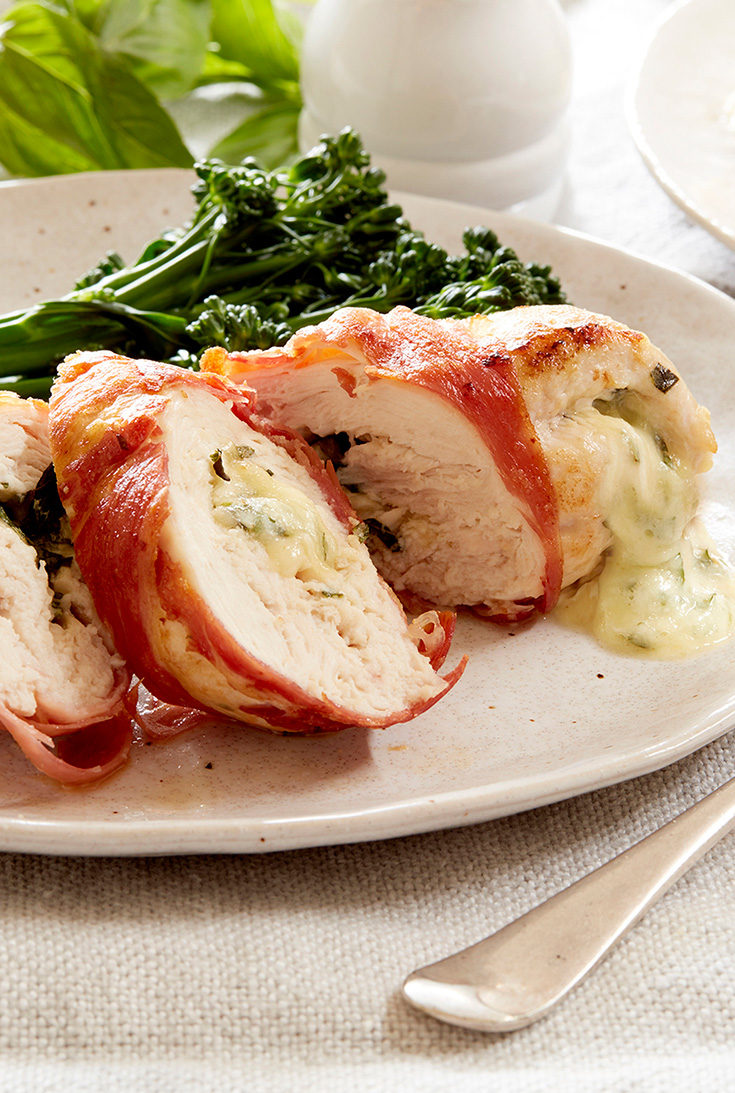 This simple prosciutto wrapped chicken is always a dinner winner