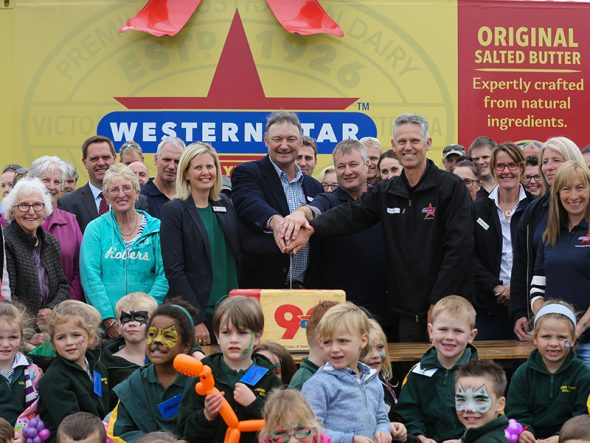 Western Star celebrating it's anniversary with the Cobden community