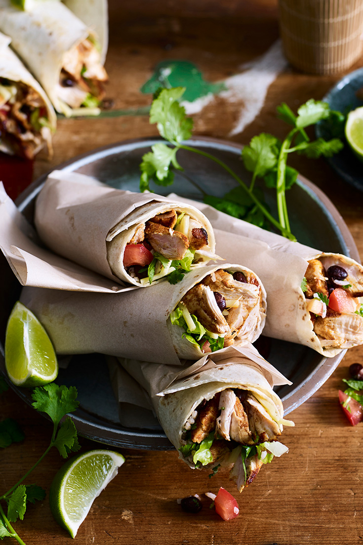 This quick and tasty chicken burrito recipe will be an ultimate dinner meal that the family will love. It's also an easy way to turn chicken tenderloins into a family dinner