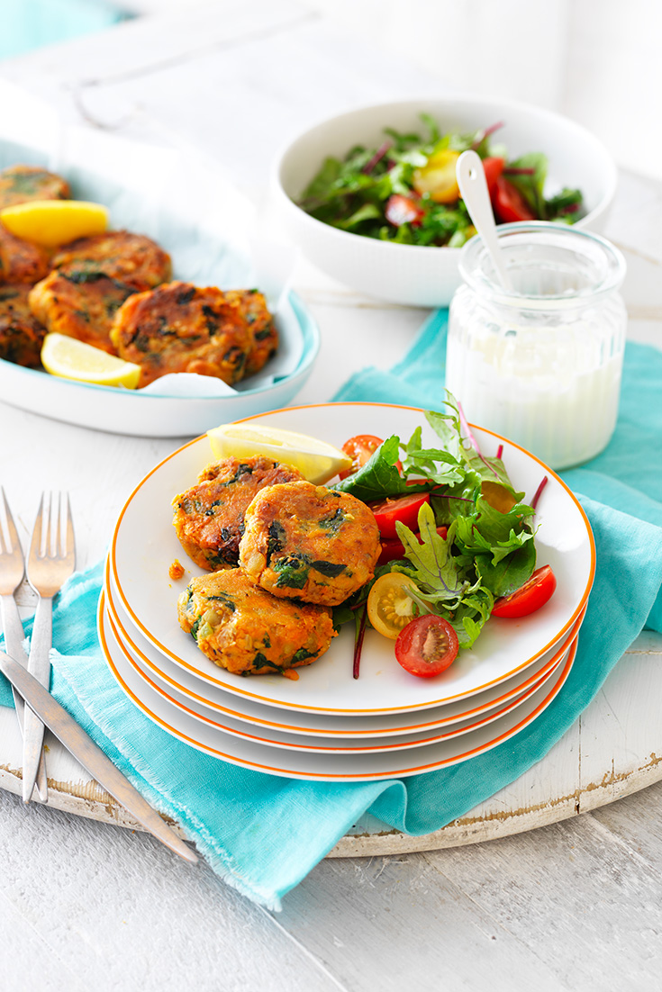 These Sweet Potato and Lentil Patties are a healthy and quick weekday meal for the whole family