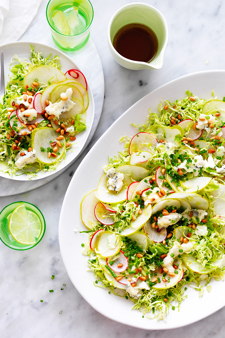 Fresh and fabulous, create this pear, brussel sprout and blue cheese salad the next time you entertain