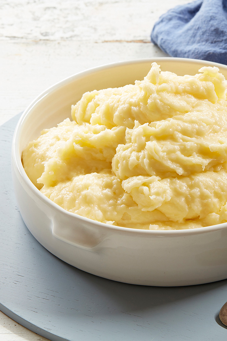 Creamy garlic mash gets the cheesy treatment with this indulgent side