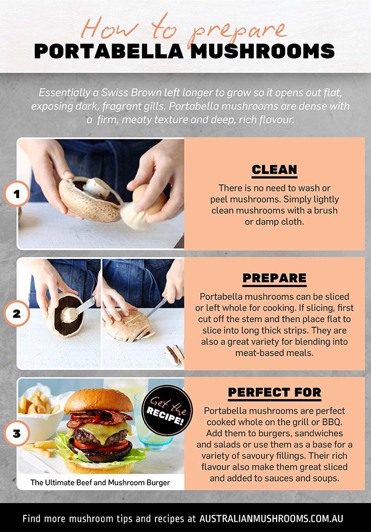 Learn how to prepare portabella mushrooms
