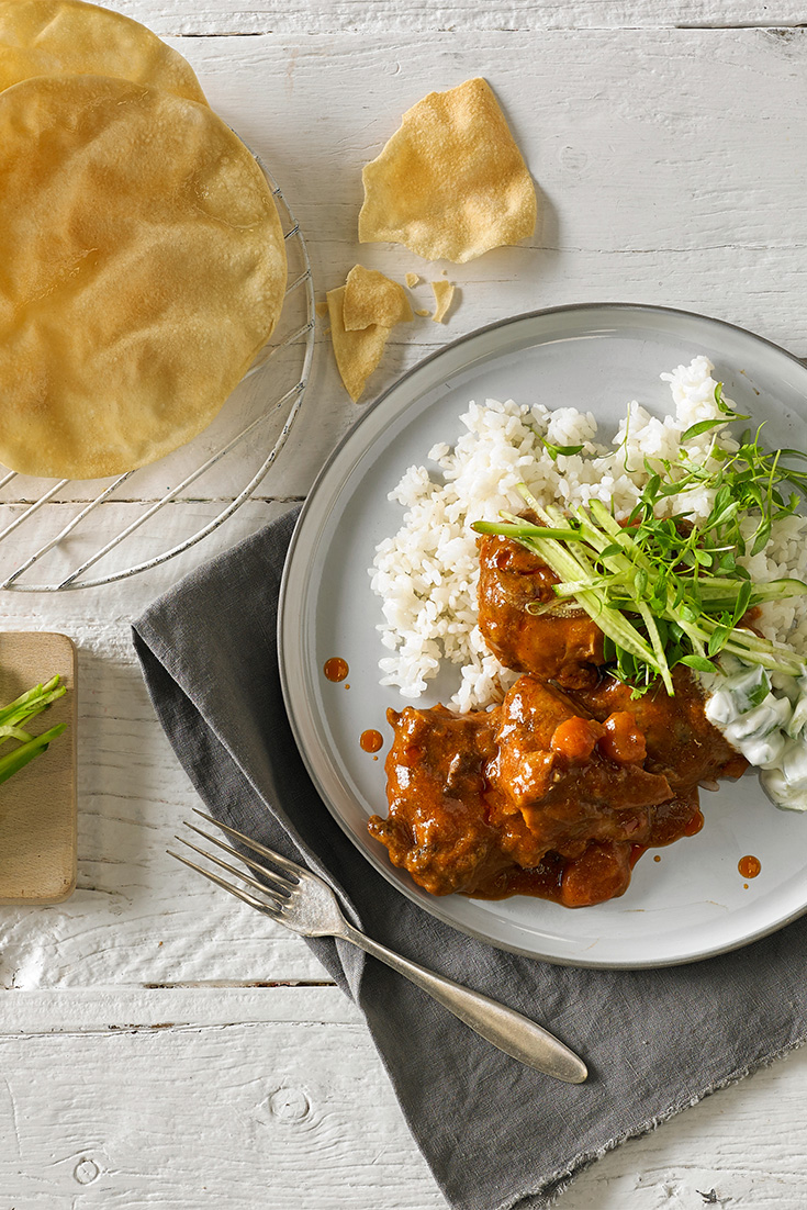 This delicious beef rogan josh recipe is fantastic winter warming curry recipe that the whole family will enjoy.