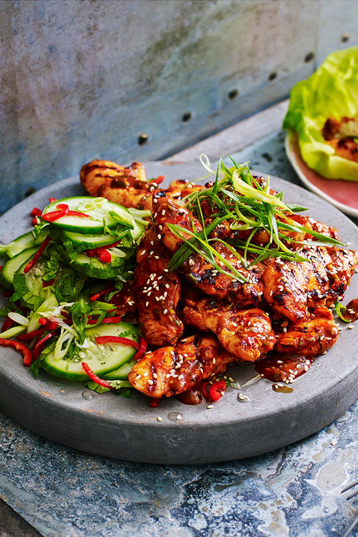 Spice up your weeknight meals with this quick and easy spicy Korean chicken and cucumber salad recipe