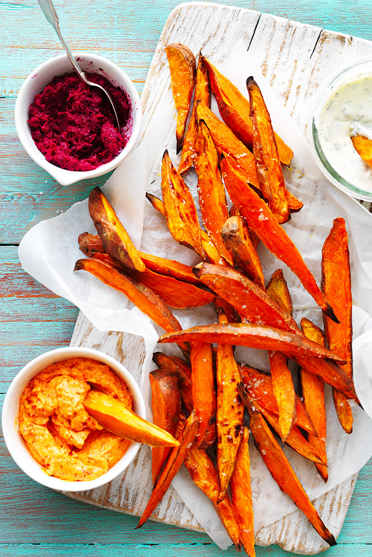 These Sweet Potato chips are perfect as a healthy easy entertaining treat