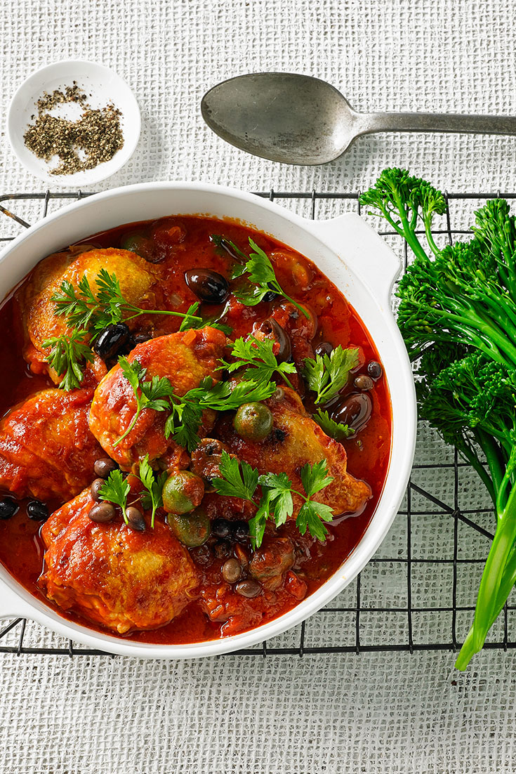 This stunning Italian-style chicken recipe will certainly be a warming, winter family recipe.