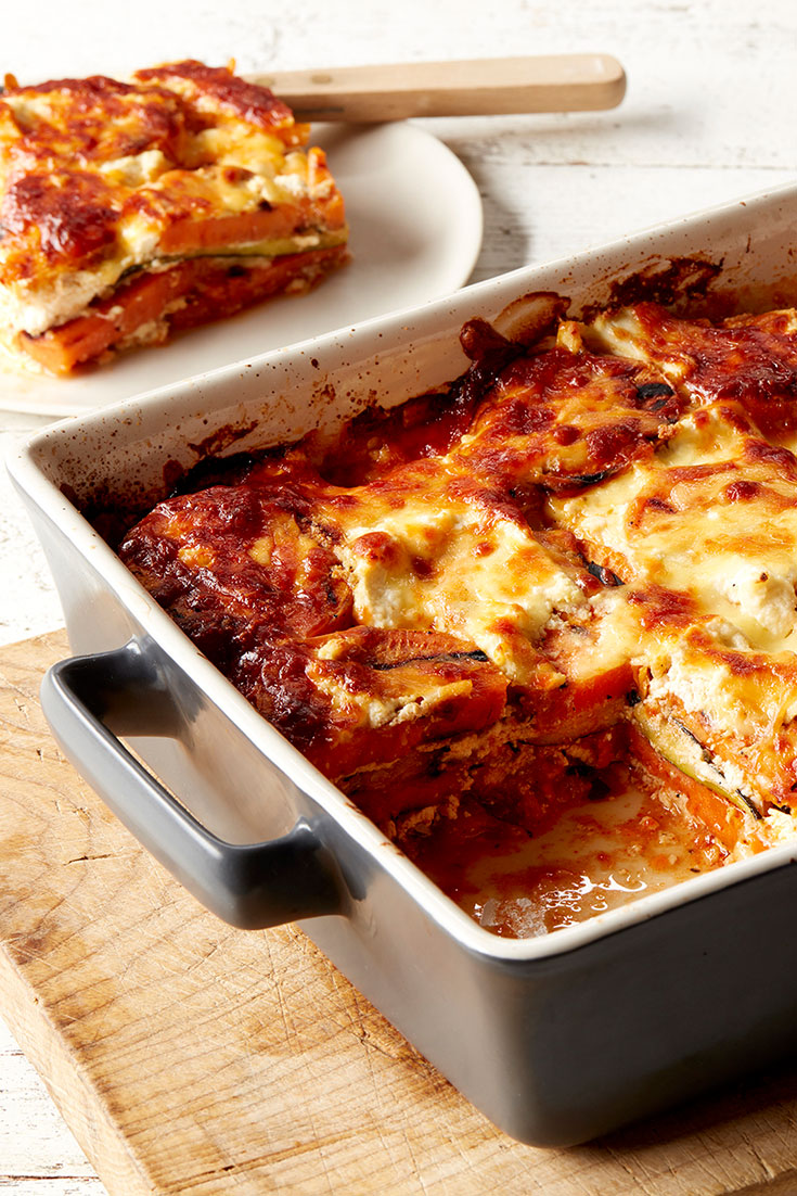 This zucchini and sweet potato lasagne recipe is the perfect better for you family dinner idea. Packed with delicious ingredients, it is a real winner.