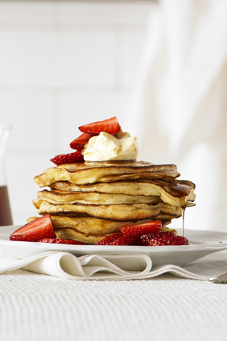 These ricotta pancakes are a perfect breakfast idea for mum
