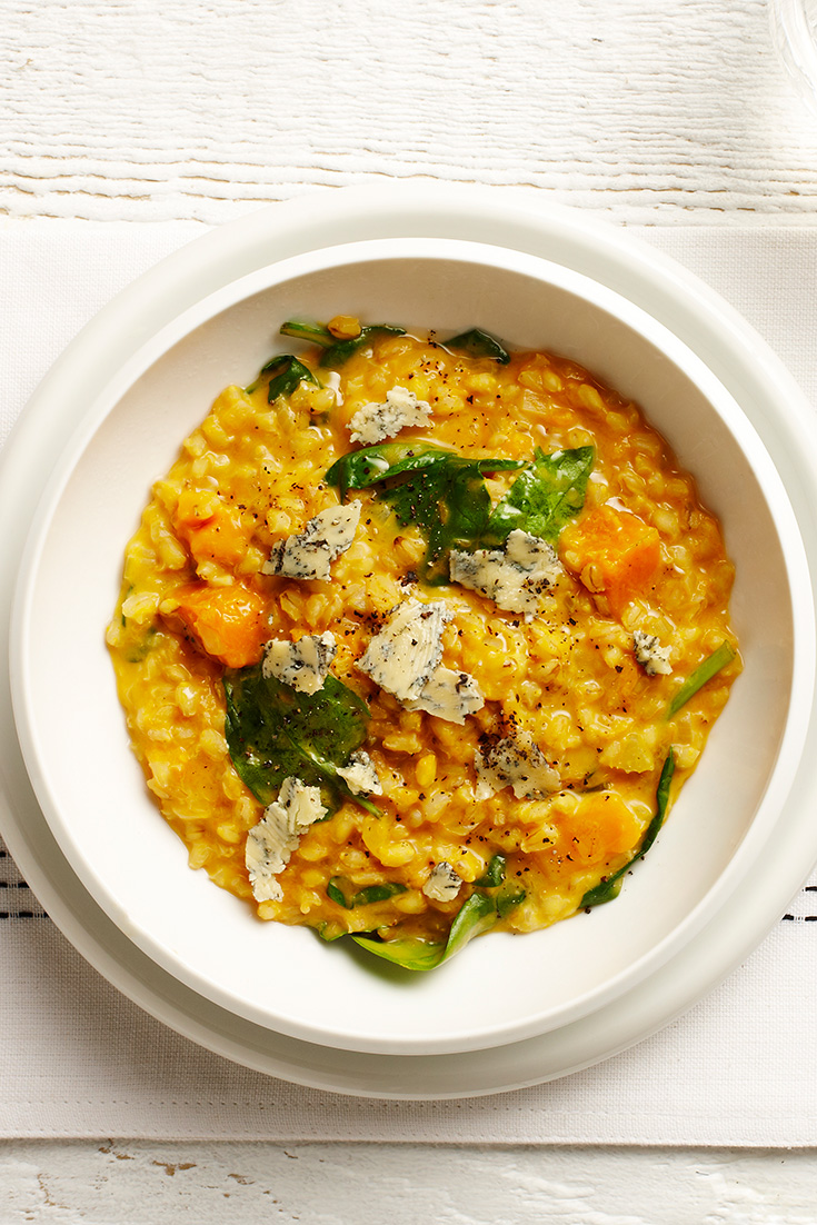 This declines risotto recipe is packed full vegetarian protein sources. This will impress the entire family.