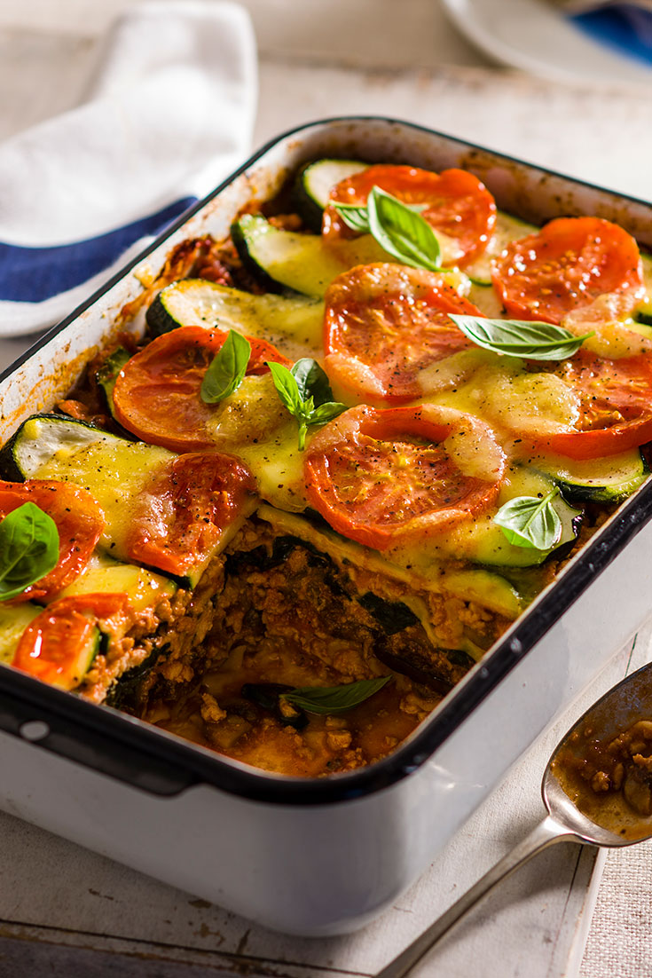 This stunning and nutritious turkey and vegetable lasagne is a better-for-you option for dinner.
