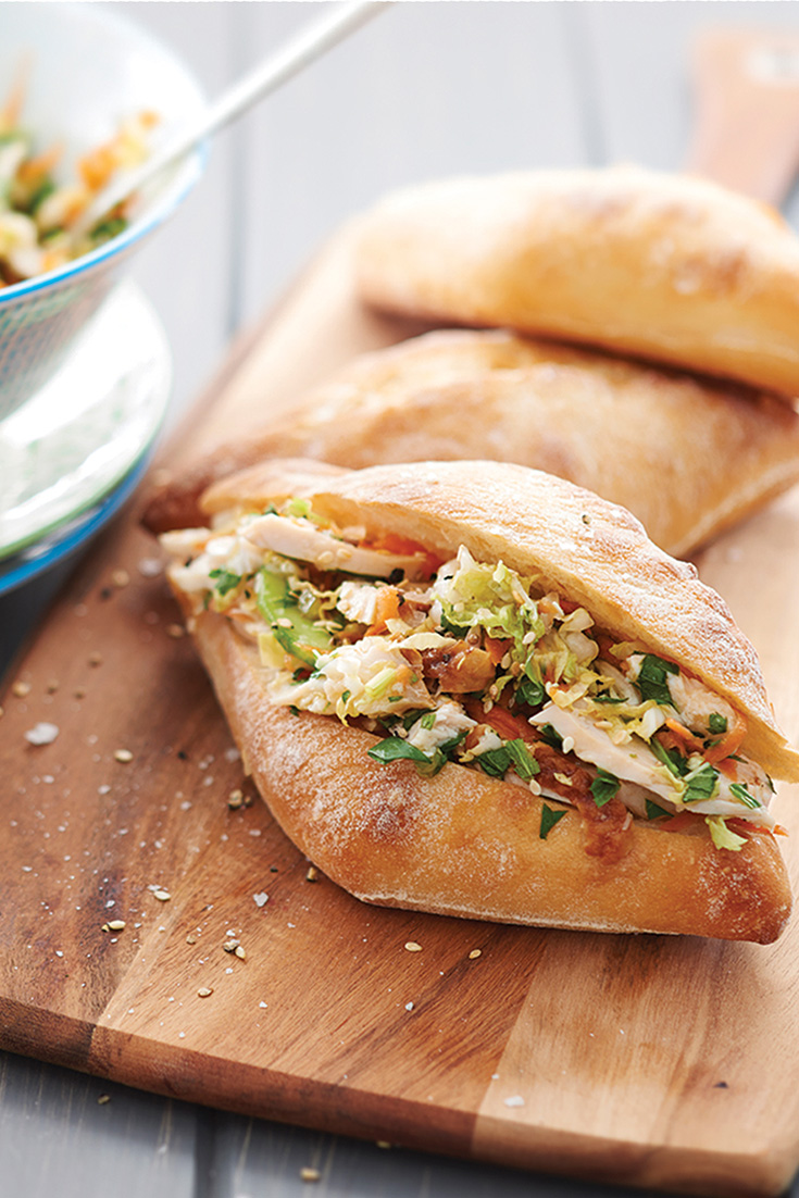 These asian slaw buns are quick and tasty and are the perfect vessel for leftover chicken.
