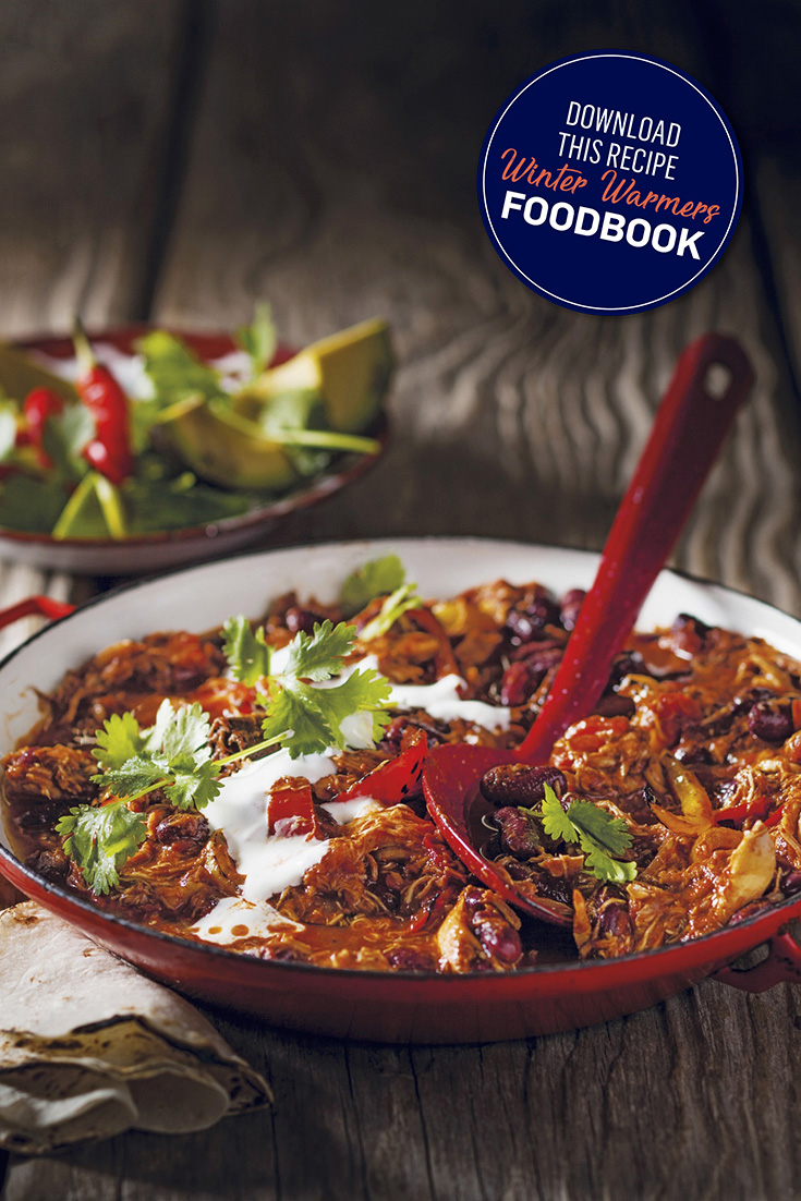 This scrumptious chicken chilli con carne recipe will certainly scratch any comfort food urges.