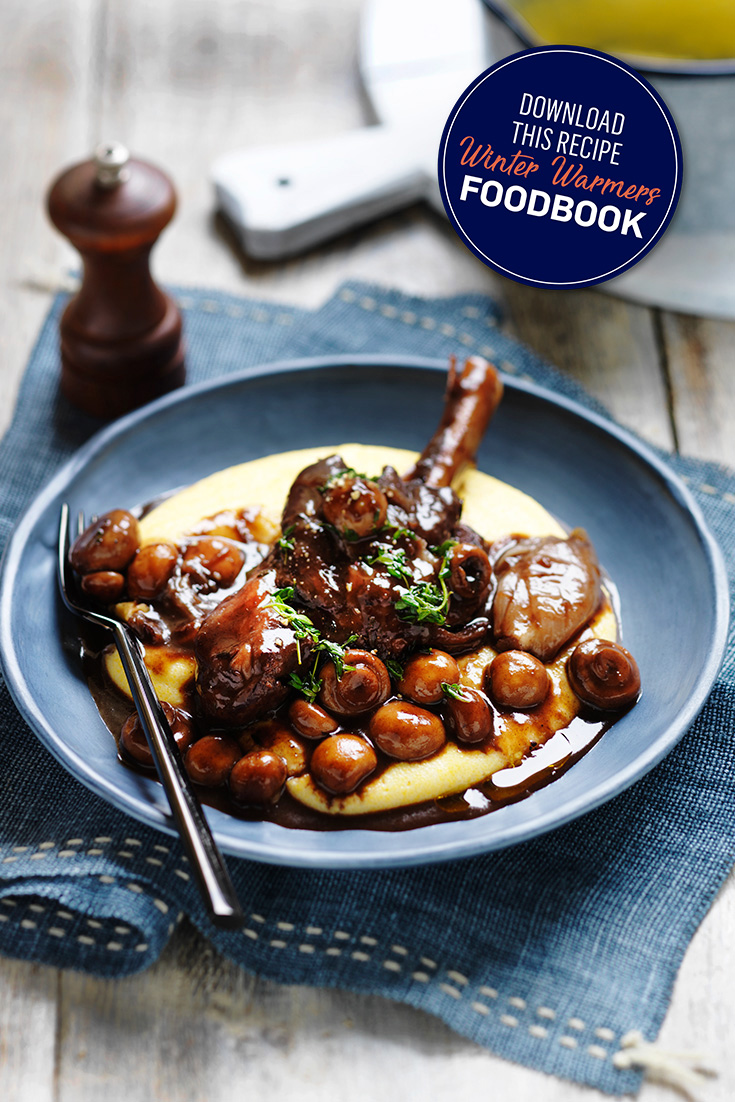 This gorgeous lamb shank recipe with button mushrooms, will have your guests asking for more.