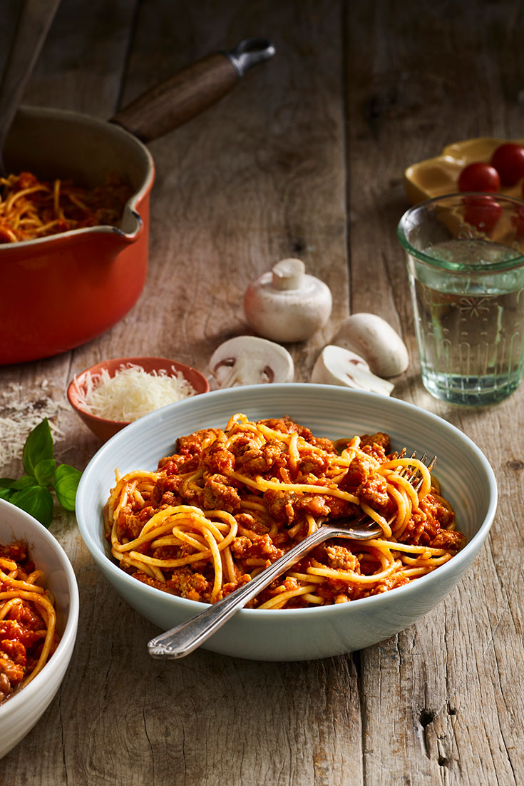 This bolognese recipes with mushroom is the ultimate mid week meal idea for the family.