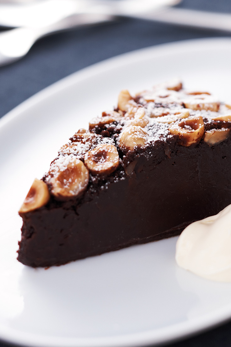 This stunning baked chocolate hazelnut mousse cake is the perfect dish to serve up on a wintery night and even better it only requires one-bowl.