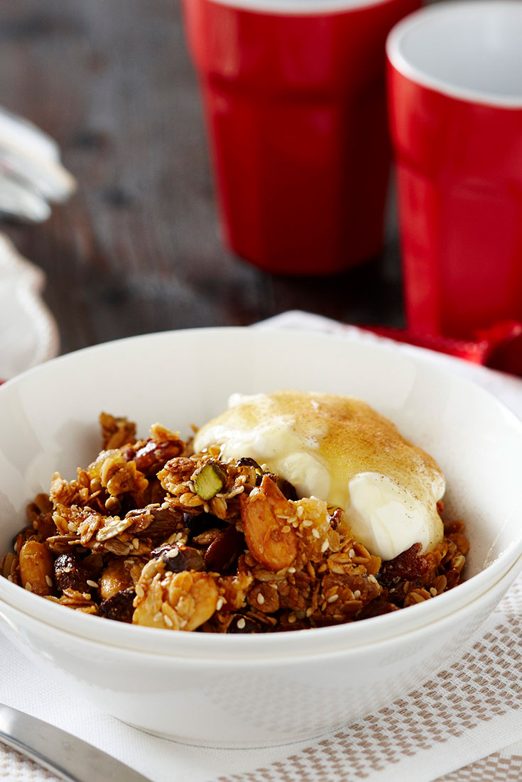 This tasty and crunchy homemade granola clusters recipe is a delicious topping choice to add to your morning porridge.