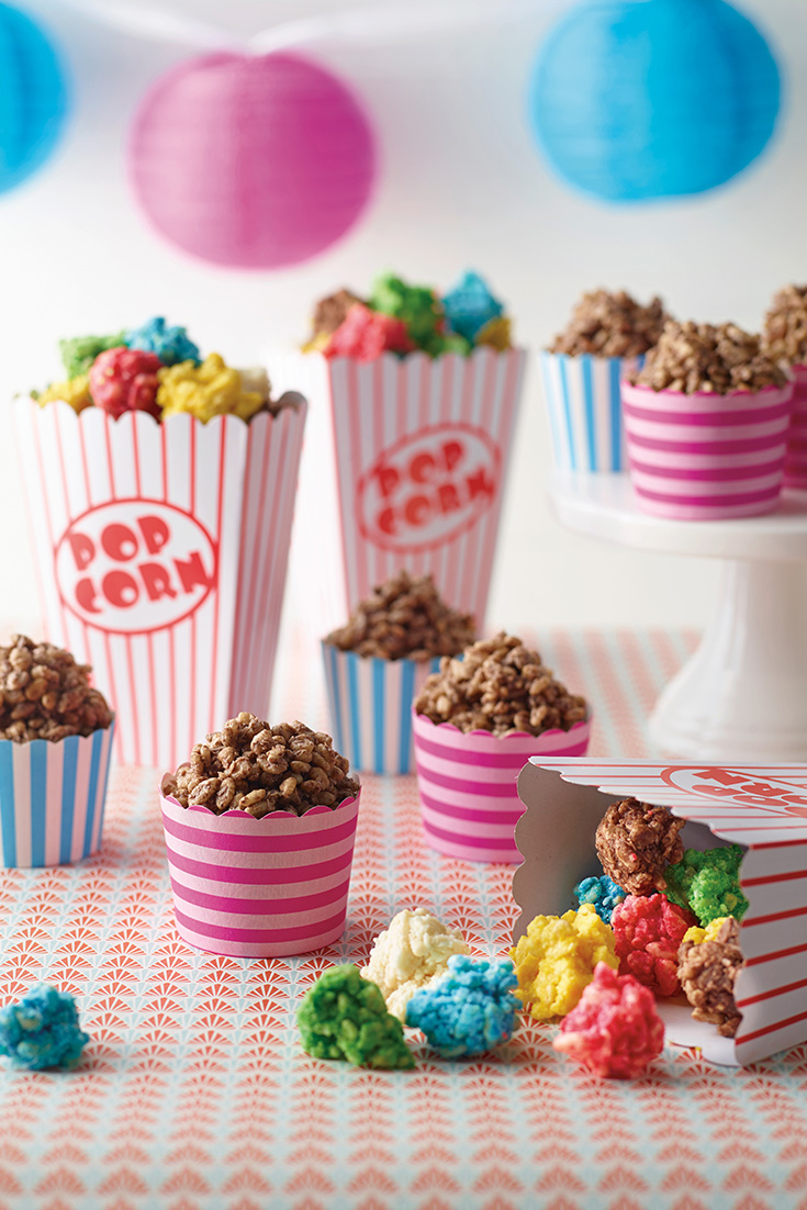 This delicious and easy kids chocolate crackle popcorn recipe is the ultimate kids party treat. The kids will love this colourful dish.