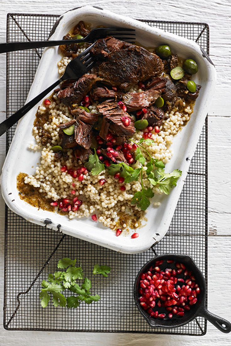 Delicious moroccan inspired beef cheeks with preserved lemon yoghurt is the perfect dish to serve at your next dinner party