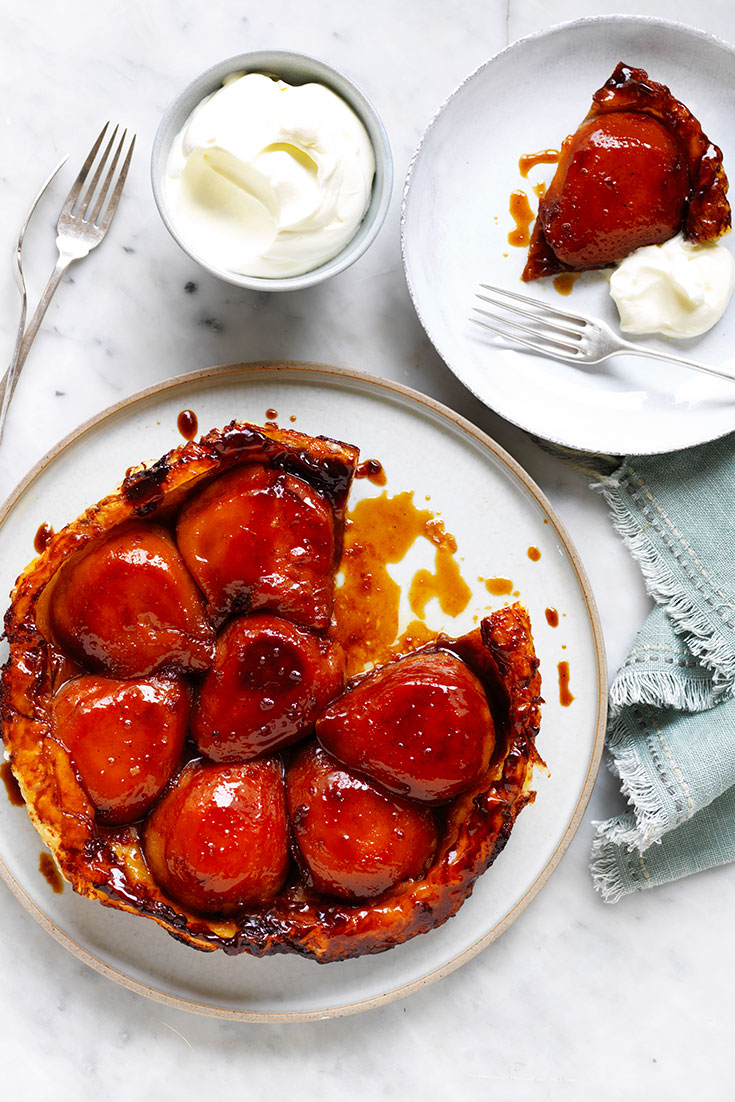 This beautiful pear taste tatin recipe will impress all your guests