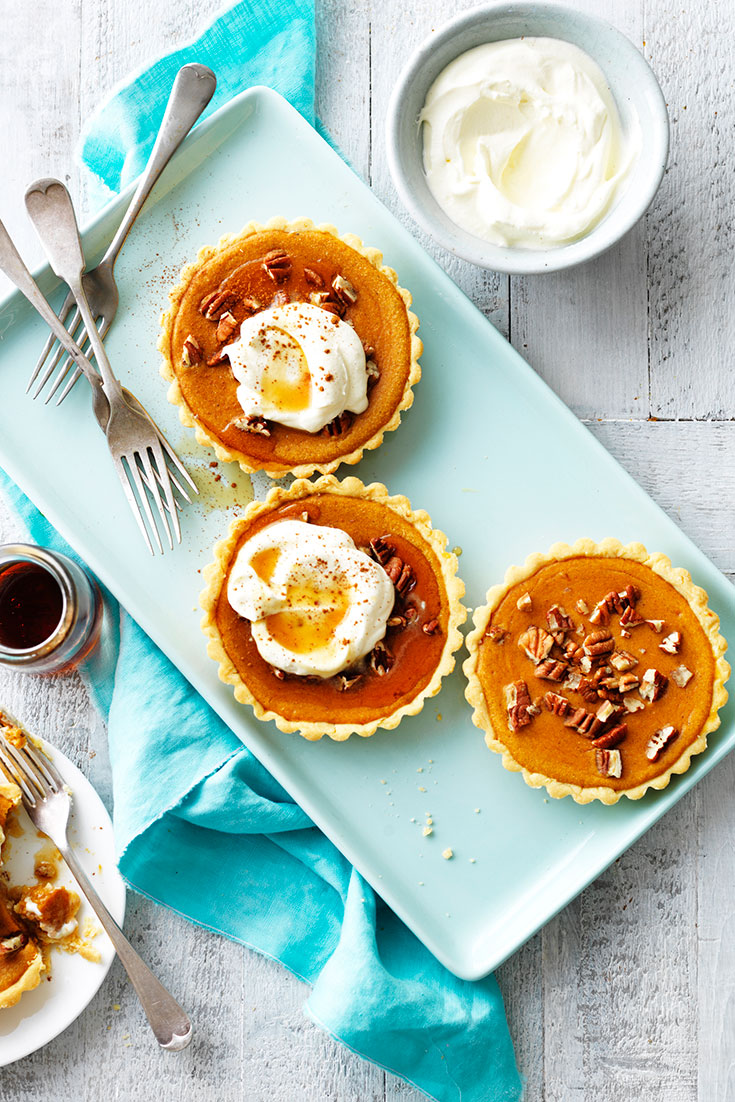 These sweet potato and pecan pies are a delicious dessert idea that the family will love.