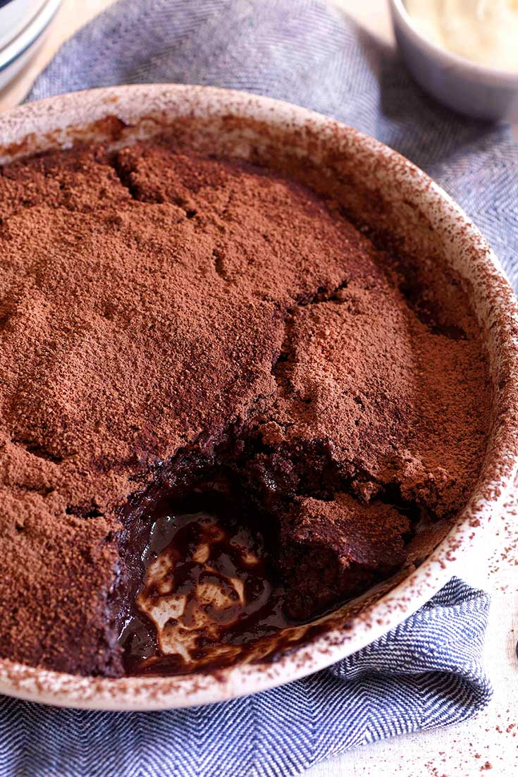 This super oozy and delicious chocolate self saucing pudding is the perfect winter warming dessert