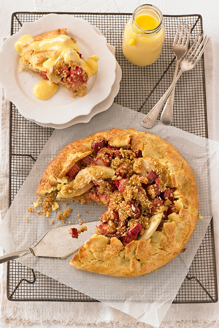 This stunning free-form apple, rhubarb and crumble tart is one dessert that definitely needs to be added to your list.