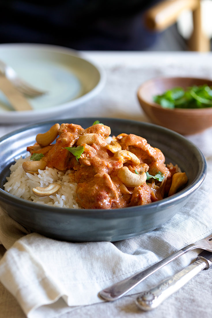 This easy and warming butter chicken recipe is a delicious go-to curry for busy weeknight dinners.