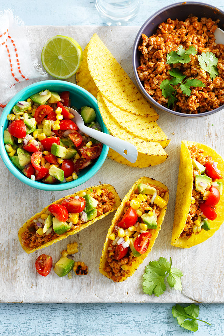 This easy chicken and fresh sals taco recipe is great family dinner idea for busy weeks.