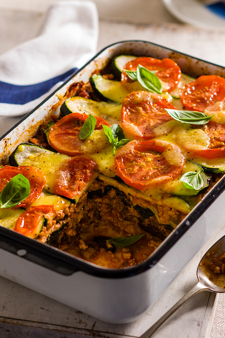 This delicious turkey and vegetable lasagne recipe is great idea to use turkey mince.